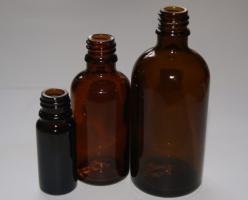 Braunglasflaschen (ohne Tropfergarnituren)